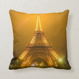 France, Paris. Eiffel Tower illuminated at 3 Throw Pillow