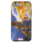 France, Paris. Eiffel Tower in twilight fog and Tough iPhone 6 Case