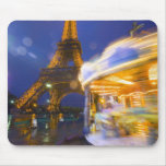 France, Paris. Eiffel Tower in twilight fog and Mouse Pad