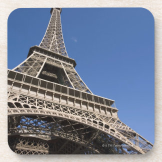 France, Paris, Eiffel Tower, low angle view Drink Coaster