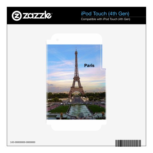 France Paris Eiffel  tower (new) (St.K) Skin For iPod Touch 4G