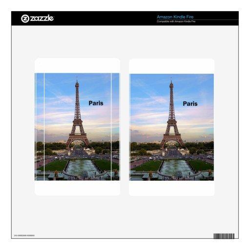 France Paris Eiffel  tower (new) (St.K) Kindle Fire Decals