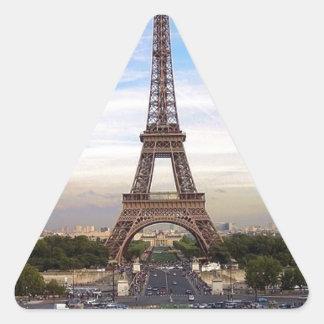France Paris Eiffel  tower (new) (St.K) Triangle Sticker