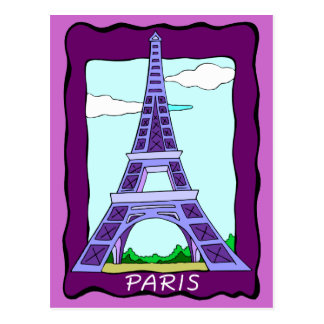 France Paris Eiffel Tower Postcard