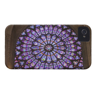 France, Paris. Interior detail of stained glass Case-Mate iPhone 4 Cases