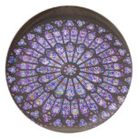 France, Paris. Interior detail of stained glass Dinner Plates