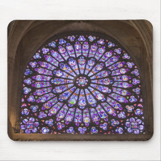 France, Paris. Interior detail of stained glass Mouse Pad