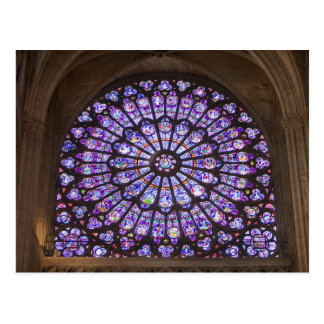 France Paris Interior detail of stained glass Post Card