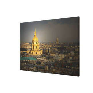 France, Paris. Les Invalides seen from the Canvas Print