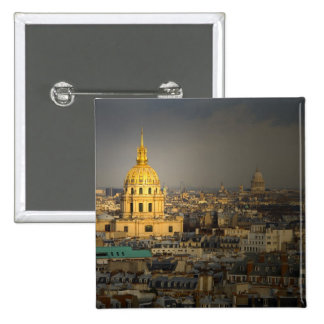 France, Paris. Les Invalides seen from the Pinback Button
