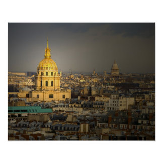 France, Paris. Les Invalides seen from the Poster