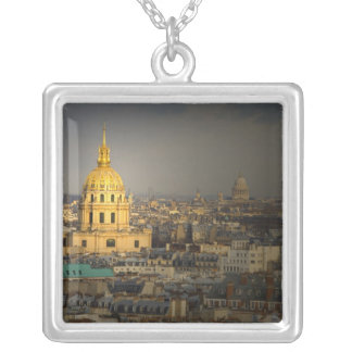 France, Paris. Les Invalides seen from the Silver Plated Necklace