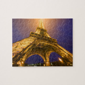 France, Paris. Looking up from base of Eiffel Jigsaw Puzzle
