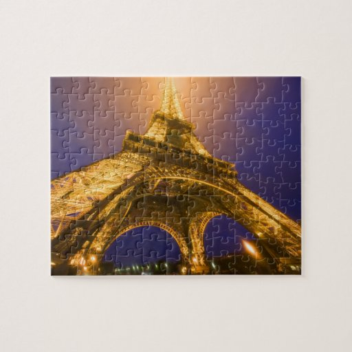 France, Paris. Looking up from base of Eiffel Puzzles