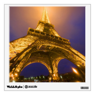 France, Paris. Looking up from base of Eiffel Wall Decal