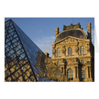 France, Paris, Louvre Museum and the Pyramid, Greeting Card