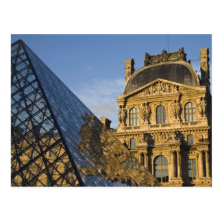 France, Paris, Louvre Museum and the Pyramid, Postcard