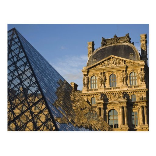 France, Paris, Louvre Museum and the Pyramid, Post Card