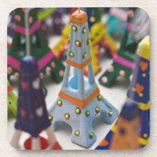France, Paris, Miniature Eiffel Towers Beverage Coaster