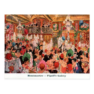 France, Paris, Montmatre, Pigall's Gaiety 1920 Postcard