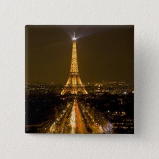 France, Paris. Nighttime view of Eiffel Tower Button