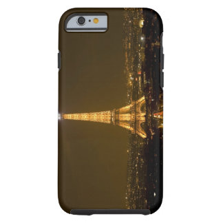 France, Paris. Nighttime view of Eiffel Tower Tough iPhone 6 Case