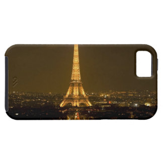 France, Paris. Nighttime view of Eiffel Tower iPhone 5 Case
