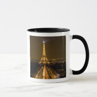 France, Paris. Nighttime view of Eiffel Tower Mug
