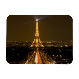 France, Paris. Nighttime view of Eiffel Tower Magnets