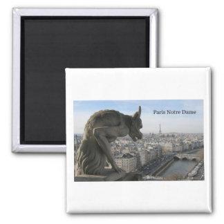 France Paris Notre Dame (by St.K) 2 Inch Square Magnet