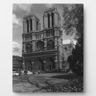 France Paris Notre Dame Cathedral 1970 Display Plaques