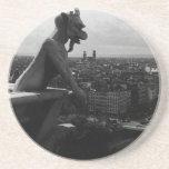 France Paris Notre Dame Cathedral devil 1970 Coaster