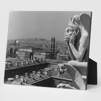 France Paris Notre Dame Cathedral thinker 1970 Photo Plaque