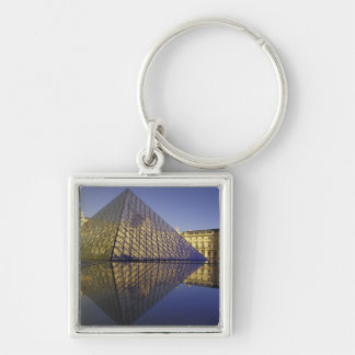 FRANCE, Paris Reflection, Pyramid. The Louvre Keychain