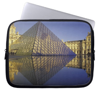 FRANCE, Paris Reflection, Pyramid. The Louvre Computer Sleeves