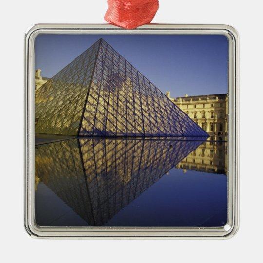 FRANCE, Paris Reflection, Pyramid. The Louvre Metal Ornament