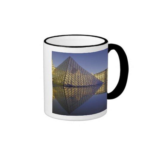 FRANCE, Paris Reflection, Pyramid. The Louvre Coffee Mug