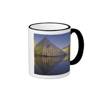 FRANCE, Paris Reflection, Pyramid. The Louvre Ringer Mug