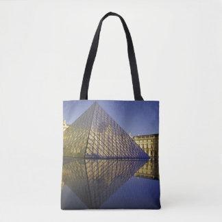 FRANCE, Paris Reflection, Pyramid Tote Bag