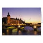 France, Paris, River Seine and Conciergerie at Card