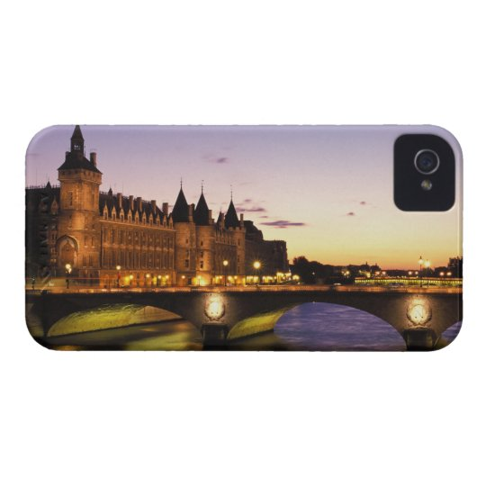 France, Paris, River Seine and Conciergerie at iPhone 4 Cover