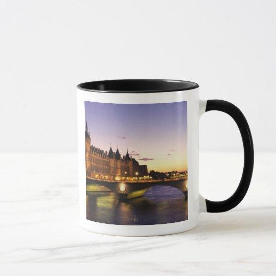 France, Paris, River Seine and Conciergerie at Mug