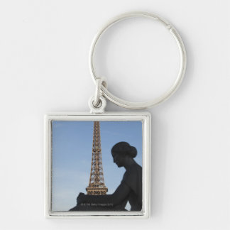 France, Paris, Statue of woman in front of Keychain