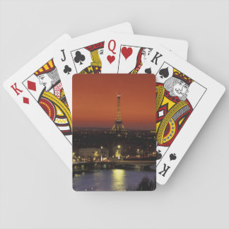 France, Paris Sunset view of Eiffel Tower and Deck Of Cards