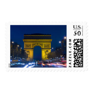 France, Paris. The Arc de Triomphe and the Postage