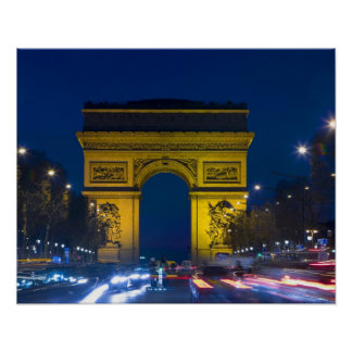 France, Paris. The Arc de Triomphe and the Poster