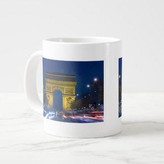 France, Paris. The Arc de Triomphe and the 20 Oz Large Ceramic Coffee Mug