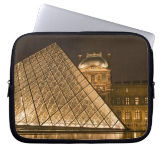 France, Paris. The Louvre at twilight. Credit 2 Laptop Computer Sleeves