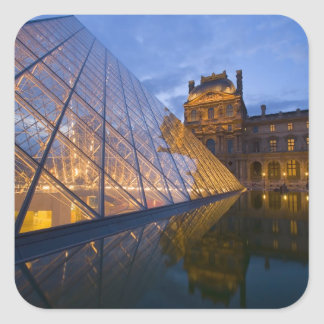 France, Paris. The Louvre at twilight. Credit 3 Square Sticker