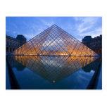 France, Paris. The Louvre at twilight. Credit Postcard